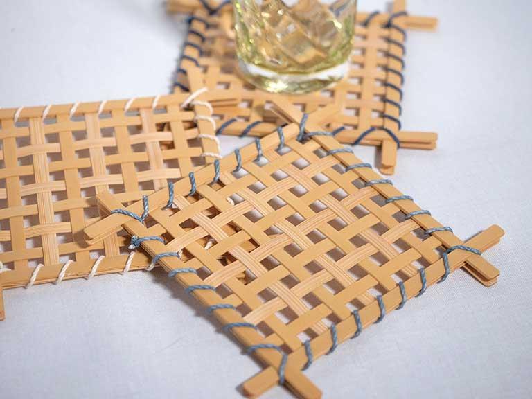 竹で作るコースター